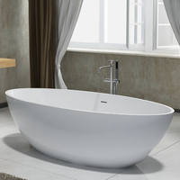 Italian designed solid surface artificial stone bathtub
