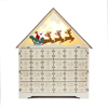 Wooden hot sale Christmas house advent calendar with Christmas gift set