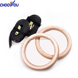 Hot Sale Core Strength Exercises Wooden Gymnastic Rings