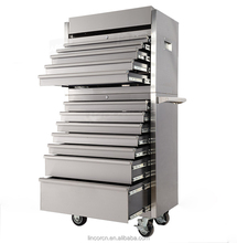 France 30inch 12 drawers combo professional CNC stainless steel waterproof tool storage top chest rolling cabinets