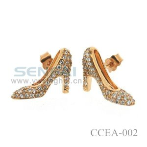 Newly Design Ear Studs with Full Diamond Shoes