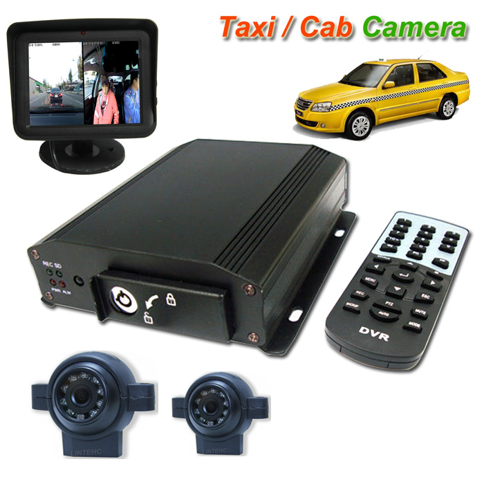 2 Channels People movers Taxi camera system with Recording function