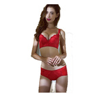 Body Shape Bra And Panty Sets Ladies Pure Red Cotton Bra