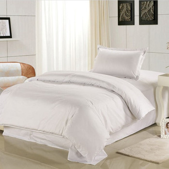 Cotton Wholesale White Bedding Sets Complete Bed Linen for Hotels Used