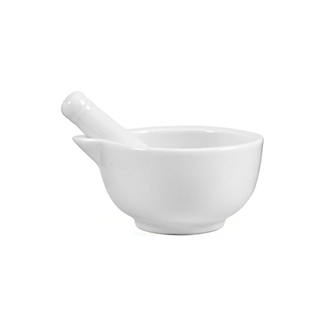 White Porcelain Medium 3.5 Inch Mortar and Pestle