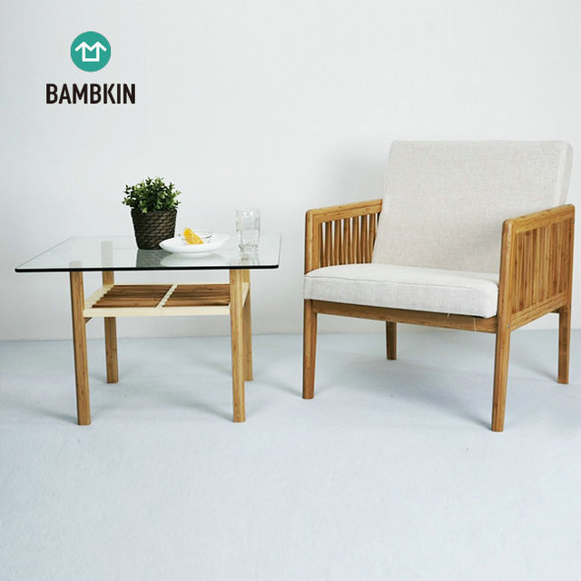 BAMBKIN Bambo living room furniture modern design glass tea table end table and sofa chair set & China Office Table Chair Set Wholesale ?? - Alibaba