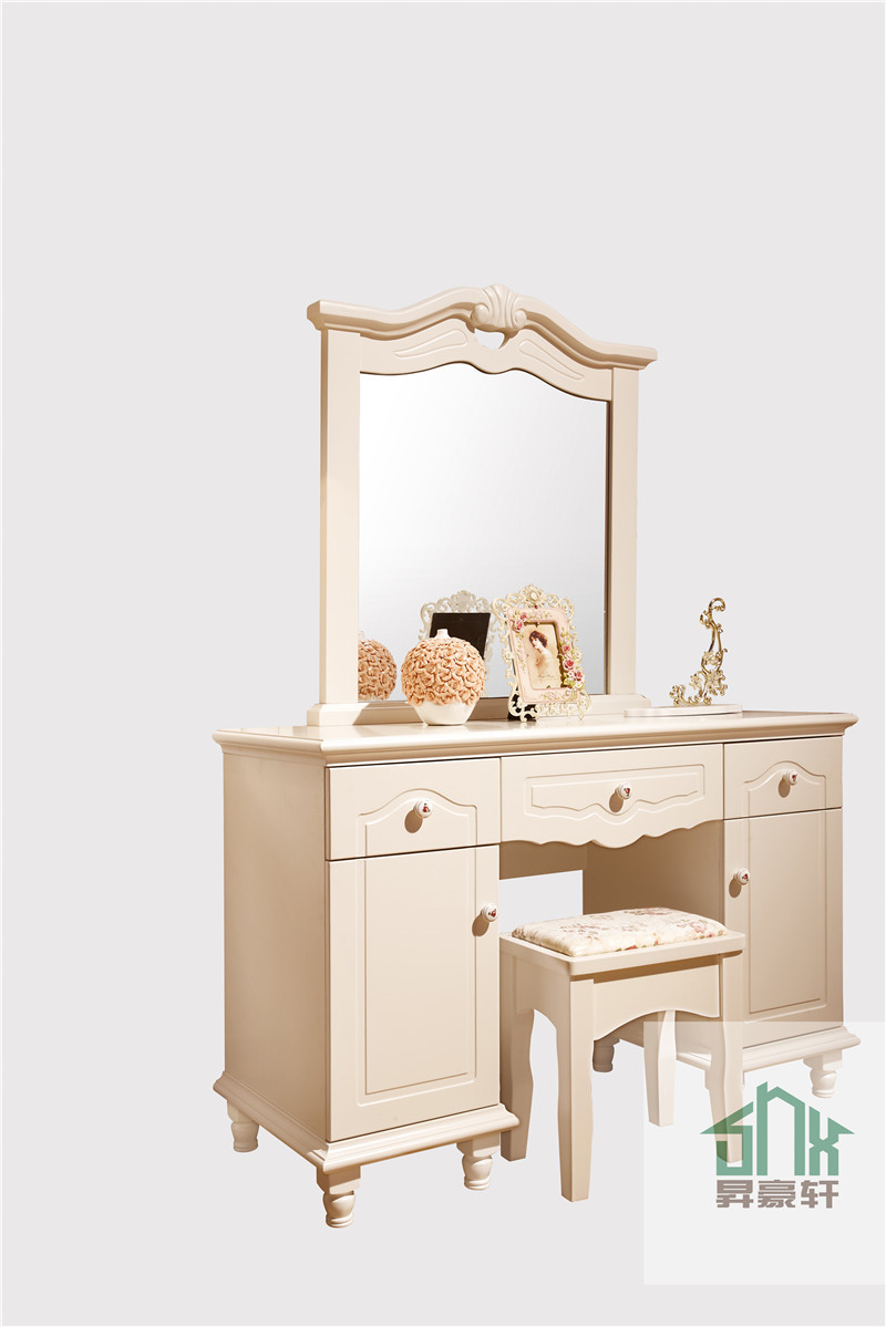 Simple Design White Wood Dressing Table HA 818# Dressing Table Designs For  Bedroom