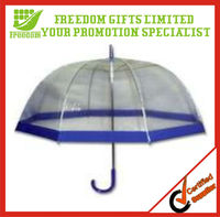 Clear Dome style Transparent PVC Umbrella