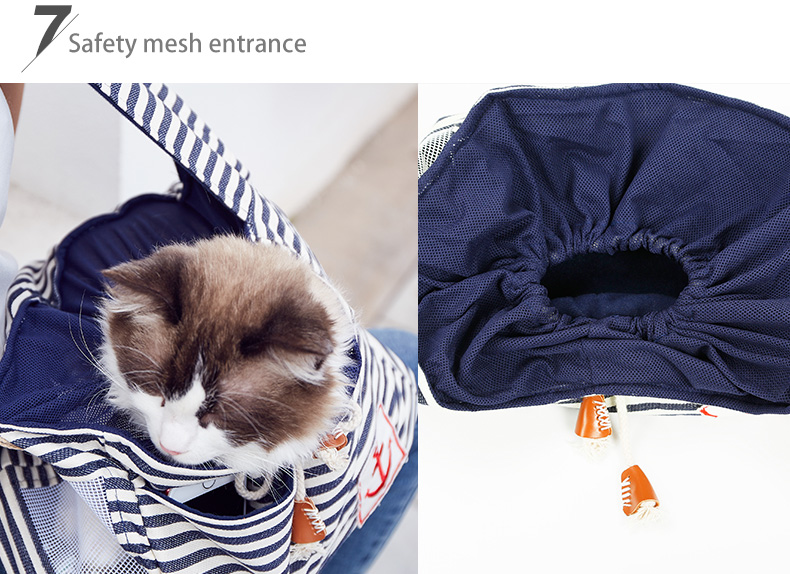 Stripe Outdoor Pet Carrier 개 Sling 여행 Bag