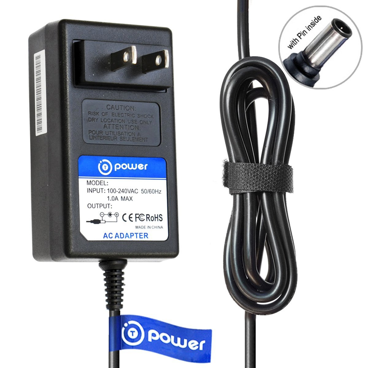 T-Power (( 6.6 Feet Cable )) Ac Adapter for Sony TMR-RF985R MDR-RF985R Wireless Headphone RF Stereo Transmitter Power Supply Charger Power Supply