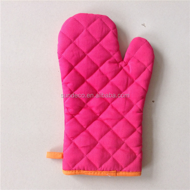 Custom printed china wholesale food grade cotton oven mitt