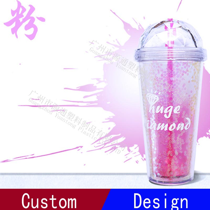 Eco Friendly Reusable Plastic Ice Cream Shaped Water Cup With Gel To Keep Cold