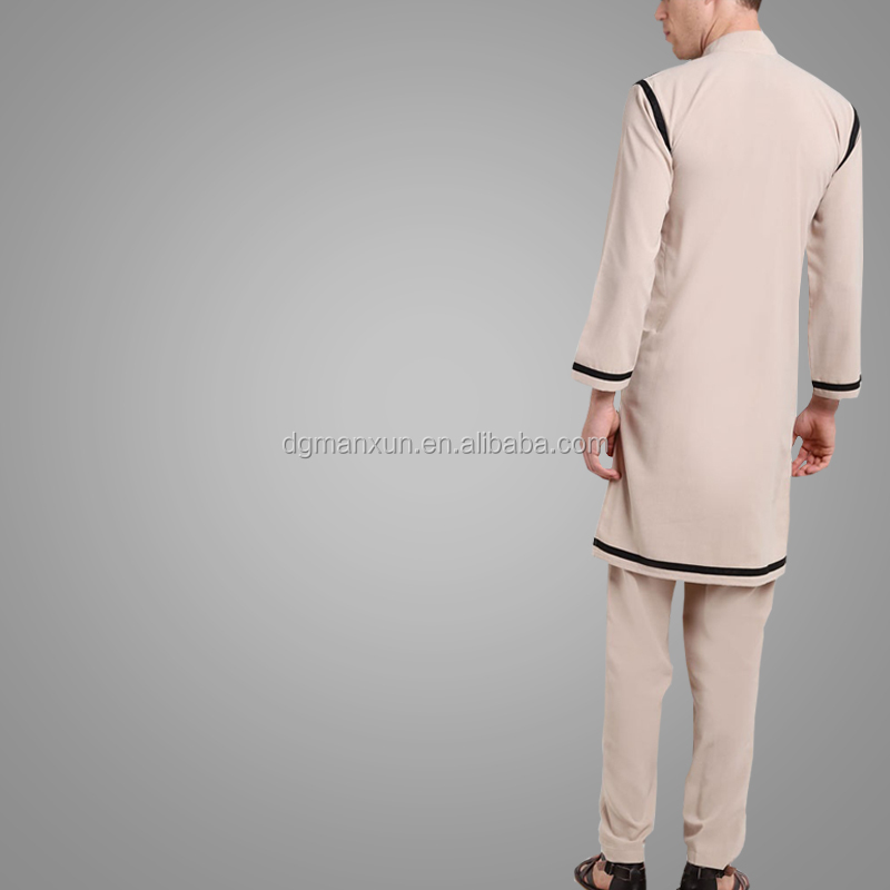 New Design Men Thobe Fashion Popular Muslim Men Suit Abaya Simple Style Turkey Abaya