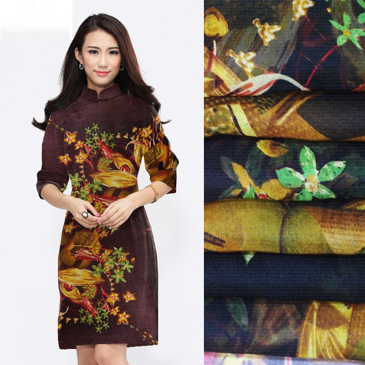 Top Quality Factory Supply Digital Print Pure Silk Chiffon Fabric