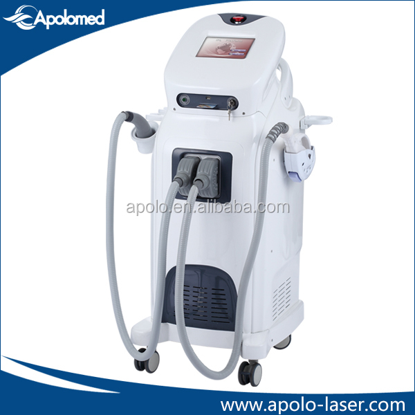 Fast and pain free hair removal IPL device with RF function for wrinkle removal and anti aging from Apolomed