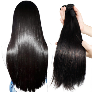 High grade good quality on sale human hair 3 bundles with one piece 4*4 lace closure pack Filipino silky straight wave hair