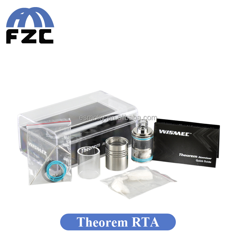 Alibaba Ru New Arrival Wismec Theorem RTA Tank Top filling Design Theorem RTA Atomizer with Optional Tube