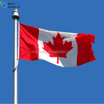 Custom Polyester Canada Flag For National Day Celebrate