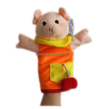 Knitting animal pig hand puppet/making cartoon hand puppets finger toys