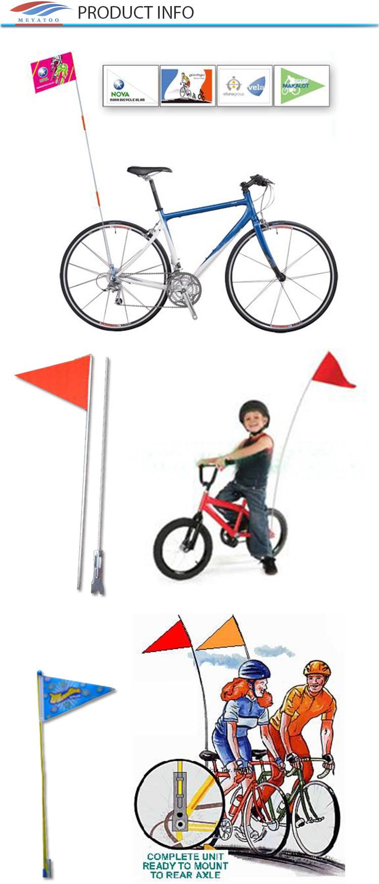 China Supplier Wholesale Cheap Bike Flag Pole Safety Flags Custom Bicycle  Flag - Buy Custom Bicycle Flag,Bicycle Flag Pole,Bicycle Flag Product on