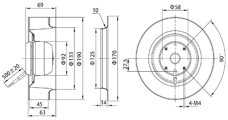 oem 2018 mental ball bearing in line duct extractor fans