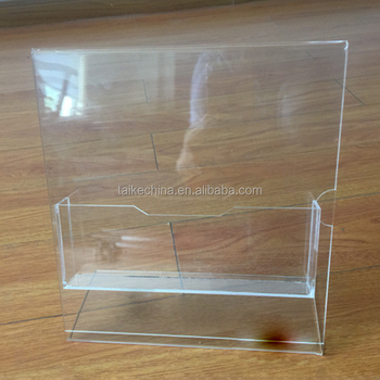 Disposable clear acrylic magazine display rack holder