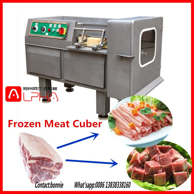 Automatic Electric Goat Chicken Meat Cuber,Frozen Meat Cutting Cubedicer  For Pork,Duck,Chicken,Mutton - Buy Meat Cutting Machine Price,Frozen  Chicken