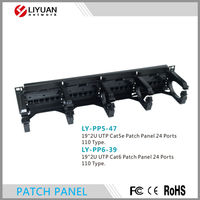 LY-PP5-47 LY-PP6-39 24Port RJ45 Cat.6 UTP Modular Patch Panel 110 Type