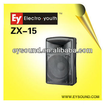 Active Plastic Speaker 15 Inch Zx-15a
