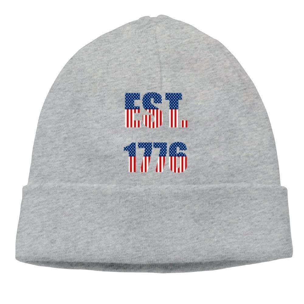 official photos ccb58 e7afc Aiw Wfdnn Beanie Hat American EST.1776 Independence Day Flag Cotton Knit  Cap for Men