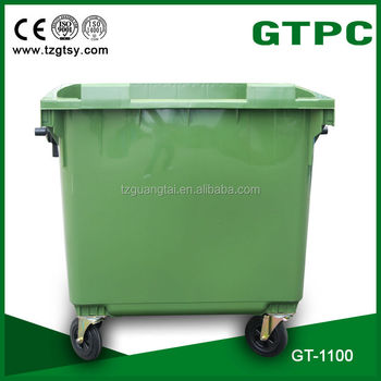 large outdoor plastic waste bin