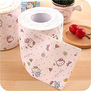 3pcs/lot Hello Kitty cute Printing Toilet Paper Toilet Tissues Roll Toilet Paper Novelty Toilet Tissue