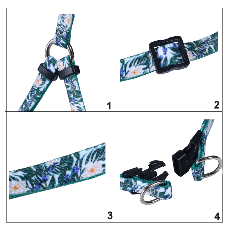 Heat Transfer Custom Dog Harness And Leash Pattern For Puppy