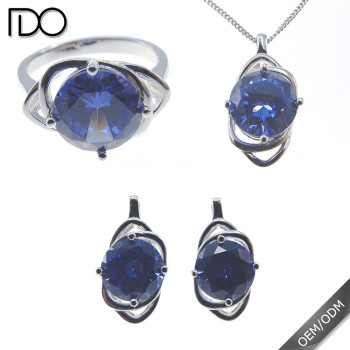 Superior quality classic tanzanite color jewelry set