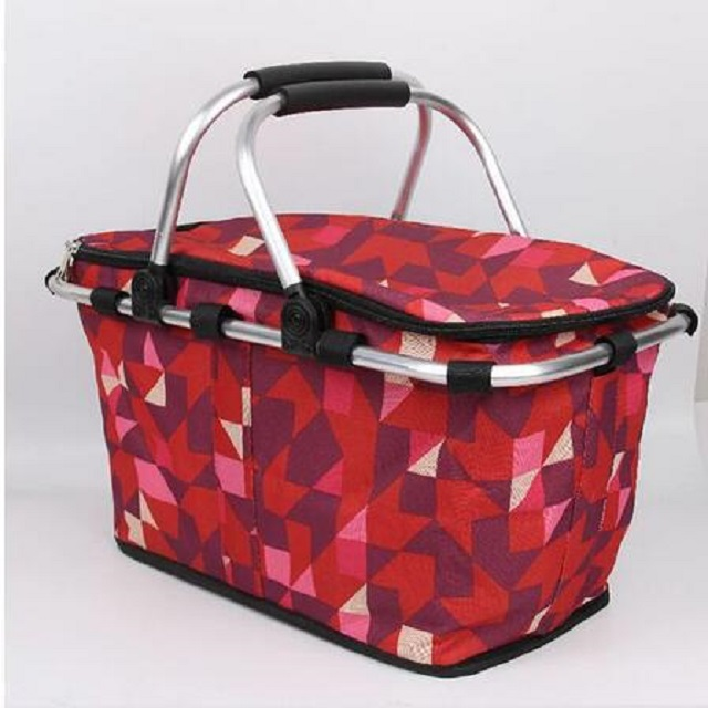 Factory good quality collapsible picnic basket, folding picnic basket