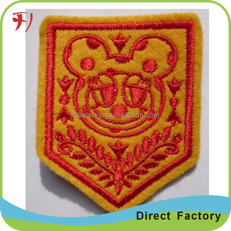 Factory price custom made embroiderd flag patch