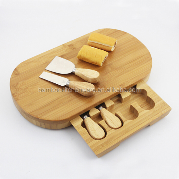 Factory direct sale bamboo cheese boards for sale