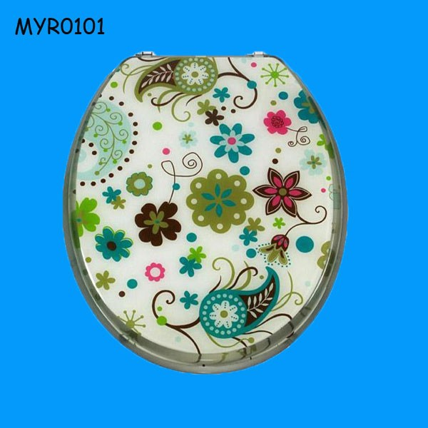 Colorful Flower Design Custom Made Resin Toilet Seats
