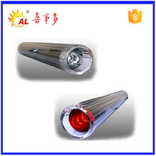 Three layer coating borosilicate glass evacuated solar collector tube for manifold collector