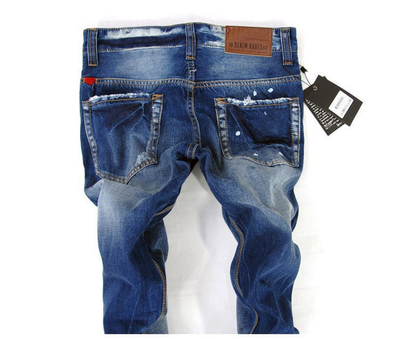 348f049844a ... разорвал джинсы новый хлопка мужчин джинсы мода мужчины стрейт джинсы  высокого качества мужчин брюки тонкий нужным