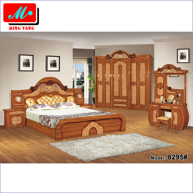 f8dd7237198b High-class classic solid color antique luxury bedroom furniture set