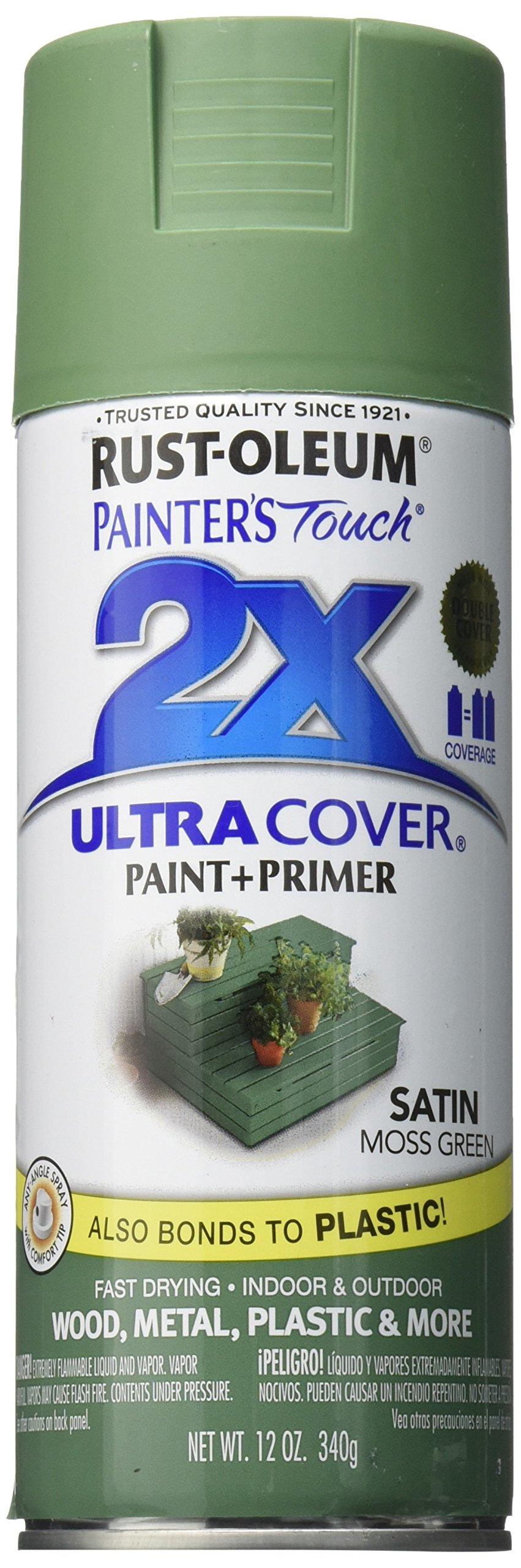 Rust-Oleum 249071 Painter's Touch Multi Purpose Spray Paint, 12-Ounce, Satin Moss Green