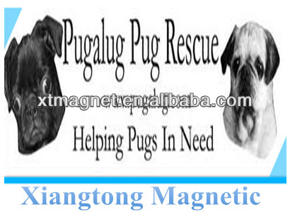 Magnetic Pringting Car Sticker Helping Pugs In Need