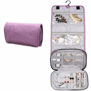 Lightweight and Handy Multi Separations Roll Organizer Hanging Travel Jewelry Bag