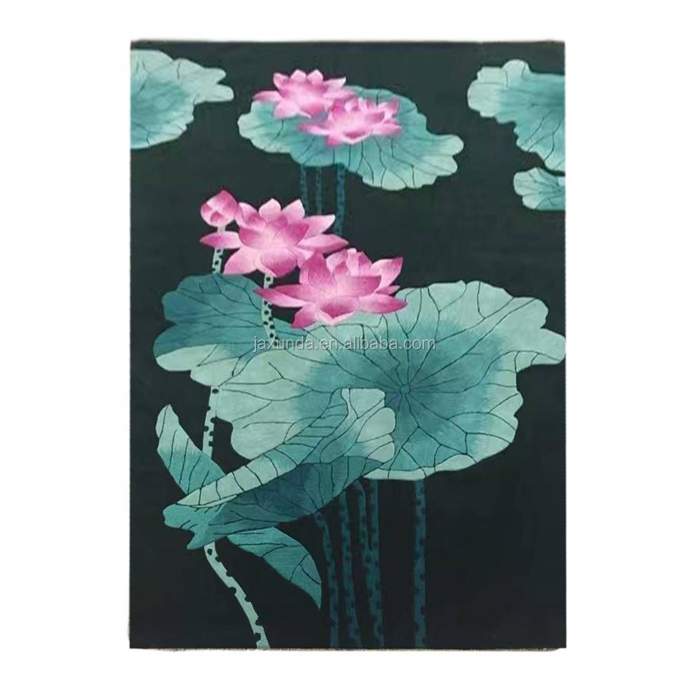 Pola Bunga Teratai Diukir Tangan Akrilik Karpet Buy Lotus Bunga