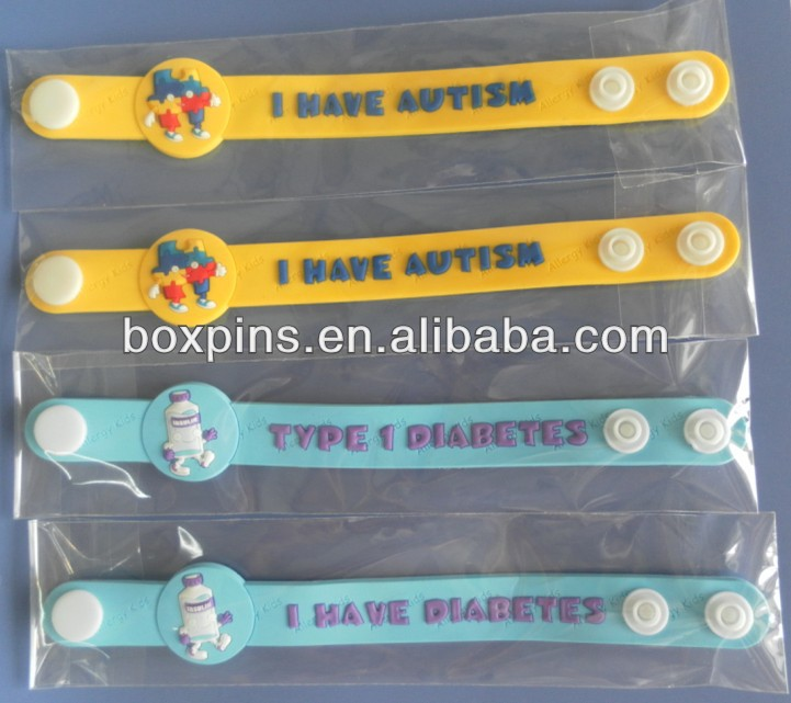 I Have Autism Diabetes Soft Pvc Bracelets Silicone Awareness Bracelet Product On Alibaba