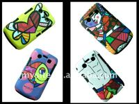 Cell Phone Silicon+PC Combo IMD Case Covers for BlackBerry Curve 9100