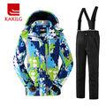 Waterproof Boys Ski Jacket and Pants Windproof Ski Suit Winter Clothes 30 Degree Below Zero KL