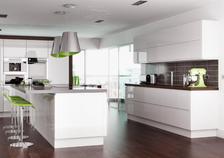 Cocina Moderna Diseños Simples Con Isla Y Barra Superior - Buy ...