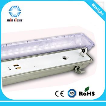 Ip65 Pc Outdoor Waterproof Fluorescent Light Fixture Parts T8 2x36w